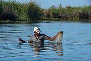 Local fisherman<br /> Hauts plateaux<br /> Central Madagascar<br /> MADAGASCAR