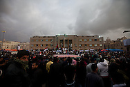 Protesters  in Banghazi on Feb. 25, 2011.
