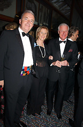 Left to right, ADMIRAL SIR ALAN WEST,  PRINCESS ANNI-FRID REUS VON PLAUEN she was Frida from pop group ABBA and SVANTE PAHLOSM-MOLLER at a gala dinner in the presence of HM Quenn Silvia of Sweden and HM Queen Noor of Jordan in aid of the charity Mentor held at the Natural History Museum, Cromwell Road, London on 23rd May 2006.<br />