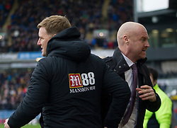 Burnley manager Sean Dyche and Bournemouth manager Eddie Howe (L) before the match - Mandatory by-line: Jack Phillips/JMP - 22/02/2020 - FOOTBALL - Turf Moor - Burnley, England - Burnley v Bournemouth - English Premier League