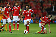 Neil Taylor of Wales (3)  in action. Wales v Moldova , FIFA World Cup qualifier at the Cardiff city Stadium in Cardiff on Monday 5th Sept 2016. pic by Andrew Orchard, Andrew Orchard sports photography