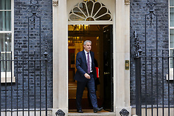 © Licensed to London News Pictures. 01/01/2019. London, UK. Stephen Barclay- Brexit Secretary departs from No 10 Downing Street after attending the weekly Cabinet Meeting. Photo credit: Dinendra Haria/LNP