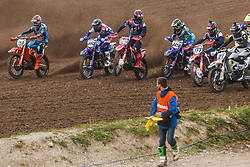 Tim Gajser #243 of Slovenia and Jeremy Van Horebeek #89 of Belgium , Evgeny Bobryshev #777 of Russia, Romain Febvre #461 of France and Glenn Coldenhoff #259 of Nederland during MXGP Trentino Qualifying Race, round 5 for MXGP Championship in Pietramurata, Italy on 15th of April, 2017 in Italy. Photo by Grega Valancic / Sportida