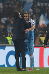 March 2, 2019 - Rome, Lazio, Italy - Senad Lulic during the Italian Serie A football match between S.S. Lazio and A.S Roma at the Olympic Stadium in Rome, on march 02, 2019. (Credit Image: © Silvia Lore/NurPhoto via ZUMA Press)