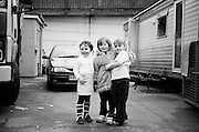 Irish Travellers living on the South Bermondsey Council-owned Travellers' site, London. These pictures were taken between 2002 and 2005.