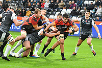 Rugby Union - 2019 / 2020 Guinness Pro14 - Ospreys vs. Southern Kings<br /> <br /> Elrigh Louw of Southern Kings breaks to score, at The Liberty Stadium.<br /> <br /> COLORSPORT/WINSTON BYNORTH