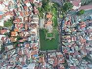 Aerial view of Ba Dinh District in Hanoi, Vietnam, Southeast Asia