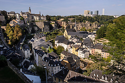 LUXEMBOURG CITY - In Luxembourg City, above the Grund, a quarter of quaint  lanes and shops along the Alzette River, sunk so dramatically below the central city that it appears to have fallen into a crevasse. (Photo © Jock Fistick)
