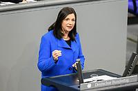 11 FEB 2021, BERLIN/GERMANY:<br /> Katrin Goering-Eckardt, MdB, B90/Gruene Fraktionsvorsitzende, haelt eine Rede, Debatte nach der  Regierungserklaerung der Bundeskanzlerin zur Bewaeltigung der Corvid-19-Pandemie, Plenum, Reichstagsgebaeude, Deutscher Bundestag<br /> IMAGE: 20210211-01-100<br /> KEYWORDS: Corona