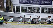 Putney - Chiswick, London,  Great Britain.<br /> First stroke of the  2016 University Boat Race, Oxford vs Cambridge, Putney. Putney  to Mortlake, Championship Course. River Thames.<br /> <br /> Sunday  27/03/2016 <br /> <br /> [Mandatory Credit; Peter SPURRIER/Intersport-images]