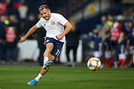 Scotland forward Ryan Fraser (11) (AFC Bournemouth) warming up during the UEFA European 2020 Qualifier match between Scotland and Russia at Hampden Park, Glasgow, United Kingdom on 6 September 2019.
