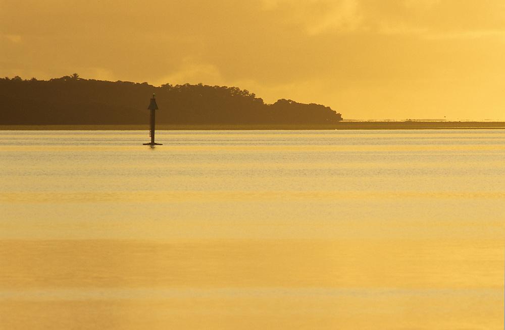 O'Keefe island, Sunrise over lagoon in Colonia, Yap, Wa`ab, Waqab, Federated States of Micronesia, islands in the Caroline Islands