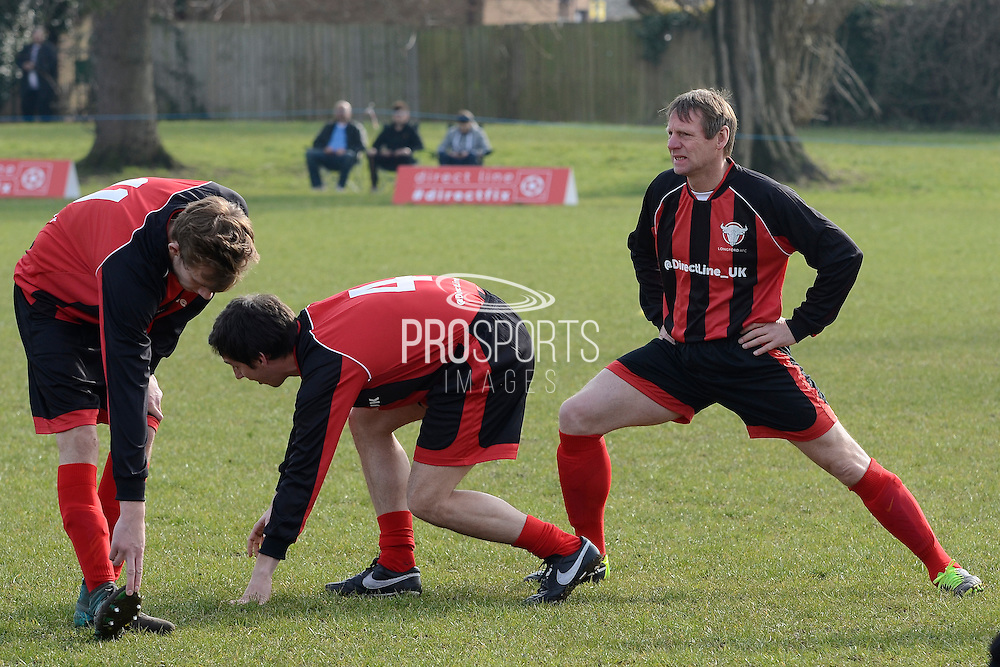 GLOUCESTERSHIRE, ENGLAND – MARCH 12: Stuart Pearce makes his debut for non-league Longford AFC as part of the #directfix campaign by Direct Line. Warming up