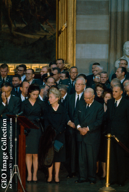 President Kennedy lying in state at the U.S. Capitol building.