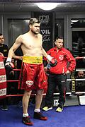 "Boxen: Schwergewicht, Alexander ""Sascha"" Dimitrenko (GER) - Milos Dovedan (SRB), Hamburg, 15.02.2017<br /> © Torsten Helmke"