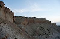 Sand martin (Riparia riparia)  colony near lake Belau, south west of Moldova