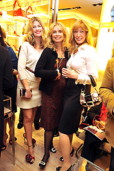 Left to right, EMMA TWEED, MARYAM D'ABO and DR SHERRIE BAEHR at a Champagne & chocolate party hosted by Roger Vivier at their store in Sloane Street, London on 12th February 2009.  The evening was in aid of The Silver Lining charity.