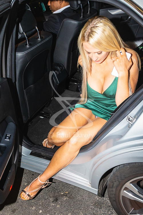 Former Playboy model Hayley Bray is photographed as she arrives at Studio 61 Cocktail Bar at Sway in Holborn. LONDON, December 28 2018.