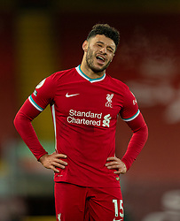 LIVERPOOL, ENGLAND - Sunday, December 27, 2020: Liverpool's Alex Oxlade-Chamberlain reacts at the final whistle during the FA Premier League match between Liverpool FC and West Bromwich Albion FC at Anfield. The game ended in a 1-1 draw. (Pic by David Rawcliffe/Propaganda)