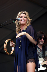 04 MAy 2012. New Orleans, Louisiana,  USA. .New Orleans Jazz and Heritage Festival. .Grace Potter (and the Nocturnals) takes to the Acura stage..Photo; Charlie Varley.