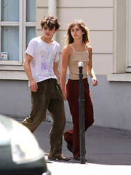 Jack Depp and his new girlfriend strolling in Paris France , Paris on may 21 , 2020<br /> Merci de cacher le visage des enfants avant la publication. Please hide the children's faces prior to the publication.