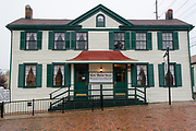 "USA Missouri MO, Hannibal a port town on the Mississippi River better known as the childhood town of Samuel Langhorne Clemens AKA Mark Twain. Home of Laura Hawkins, whom Samuel Clemens loved, and later put in his books as ""Becky Thatcher"","