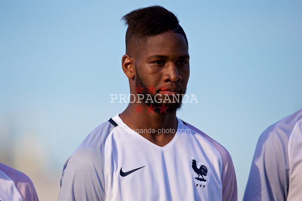 AUBAGNE, FRANCE - Tuesday, May 30, 2017: France's Abdoulaye Sissako lines-up ahead of the the Toulon Tournament Group B match between Wales and France at the Stade de Lattre-de-Tassigny. (Pic by Laura Malkin/Propaganda)