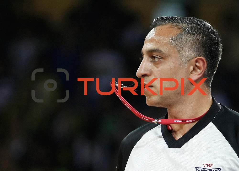 Referee's Zafer YILMAZ during their Turkish Basketball league Play Off Final fourth leg match Fenerbahce Ulker between Efes Pilsen at the Abdi Ipekci Arena in Istanbul Turkey on Thursday 27 May 2010. Photo by Aykut AKICI/TURKPIX