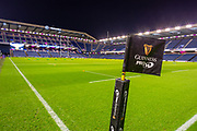 General view inside the BT Murrayfield Stadium, Edinburgh, Scotland before the Guinness Pro 14 2019_20 match between Edinburgh Rugby and Cardiff Blues at on 28 February 2020.
