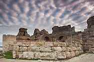 Cloudy autumn morning in an anciet town of Nessebar