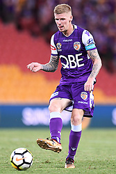 January 18, 2018 - Brisbane, QUEENSLAND, AUSTRALIA - Andrew Keogh of the Glory (#9) passes the ball during the round seventeen Hyundai A-League match between the Brisbane Roar and the Perth Glory at Suncorp Stadium on January 18, 2018 in Brisbane, Australia. (Credit Image: © Albert Perez via ZUMA Wire)