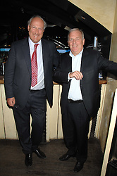 Left to right, SIR VICTOR BLANK and KELVIN MACKENZIE at a party to celebrate the publication of Piers Morgan's book 'Don't You Know Who I Am?' held at Paper, 68 Regent Street, London W1 on 18th April 2007.<br />