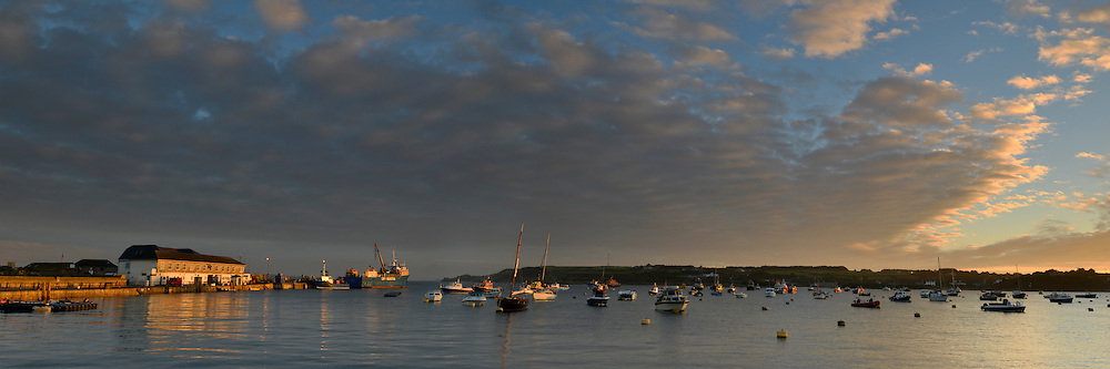 Dawn over the harbour on St Mary's, Isles of Scilly