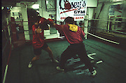 women's boxing in caseys gym, streatham, mid 1990s