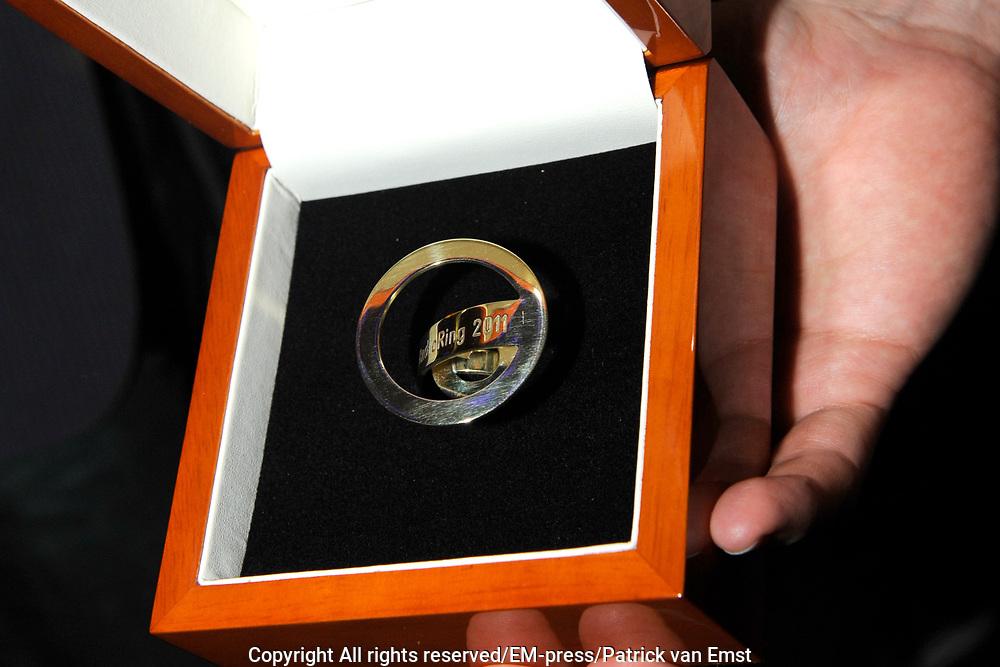 AVRO Radiogala 2011 in het Stadhuis van Hilversum.<br /> <br /> Op de foto: Gouden RadioRing 2011