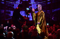 Pink heads to the stage to accept the award for Outstanding Contribution on stage at the Brit Awards 2019 at the O2 Arena, London. PRESS ASSOCIATION PHOTO. Picture date: Wednesday February 20, 2019. See PA story SHOWBIZ Brits. Photo credit should read: Victoria Jones/PA Wire. EDITORIAL USE ONLY.