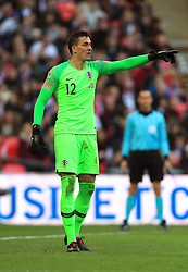 Croatia's Lovre Kalinic during the UEFA Nations League, Group A4 match at Wembley Stadium, London. PRESS ASSOCIATION Photo. Picture date: Sunday November 18, 2018. See PA story SOCCER England. Photo credit should read: Mike Egerton/PA Wire. RESTRICTIONS: Use subject to FA restrictions. Editorial use only. Commercial use only with prior written consent of the FA. No editing except cropping.