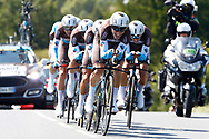 Team AG2R La Mondiale during the Tour de France 2018, Stage 3, Team Time Trial, Cholet-Cholet (35 km) on July 9th, 2018 - Photo Luca Bettini/ BettiniPhoto / ProSportsImages / DPPI