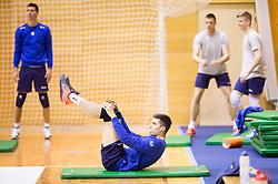 Klemen Cebulj during training camp of Slovenian Volleyball Men Team 1 month before FIVB Volleyball World League tournament in Ljubljana, on May 5, 2016 in Arena Vitranc, Kranjska Gora, Slovenia. Photo by Vid Ponikvar / Sportida