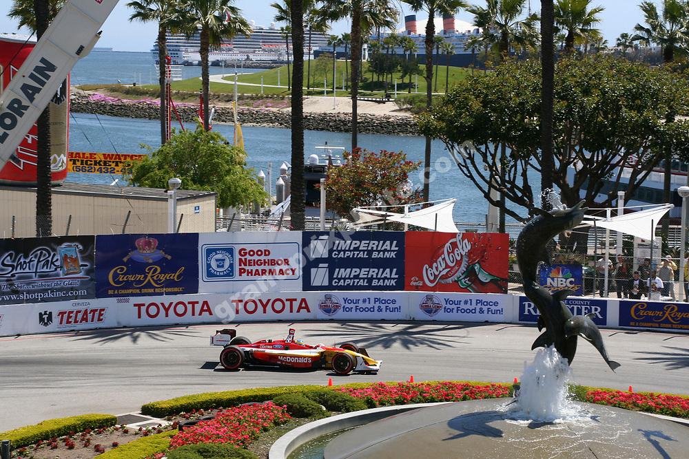 Sebastien Bourdais (Newman-Haas) during the 2006 CART race in Long Beach. Photo: Brondum/Grand Prix Photo