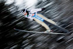 Ski jumper during Normal Hill Individual Competition at FIS World Cup Ski jumping Ladies Ljubno 2012, on February 12, 2012 in Ljubno ob Savinji, Slovenia. (Photo By Vid Ponikvar / Sportida.com)