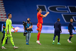 NICE, FRANCE - Wednesday, June 2, 2021: Wales' captain Gareth Bale leads his side out before an international friendly match between France and Wales at the Stade Allianz Riviera ahead of the UEFA Euro 2020 tournament. (Pic by Simone Arveda/Propaganda)