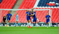 Millie Bright of Chelsea Women celebrates her goal after making it 0-1- Mandatory by-line: Nizaam Jones/JMP - 29/08/2020 - FOOTBALL - Wembley Stadium - London, England - Chelsea v Manchester City - FA Women's Community Shield