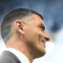 BRISBANE, AUSTRALIA - NOVEMBER 19: Brisbane Roar coach John Aloisi looks on during the round 7 Hyundai A-League match between the Brisbane Roar and Sydney FC at Suncorp Stadium on November 19, 2016 in Brisbane, Australia. (Photo by Patrick Kearney/Brisbane Roar)