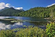 Coast Mountains and a northern lake on The Sunshine Coast<br /> Skookumchuck<br /> British Columbia<br /> Canada