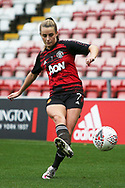 Portrait full length Manchester United midfielder Ella Toone (7) warming up during the FA Women's Super League match between Manchester United Women and Manchester City Women at Leigh Sports Village, Leigh, United Kingdom on 14 November 2020.