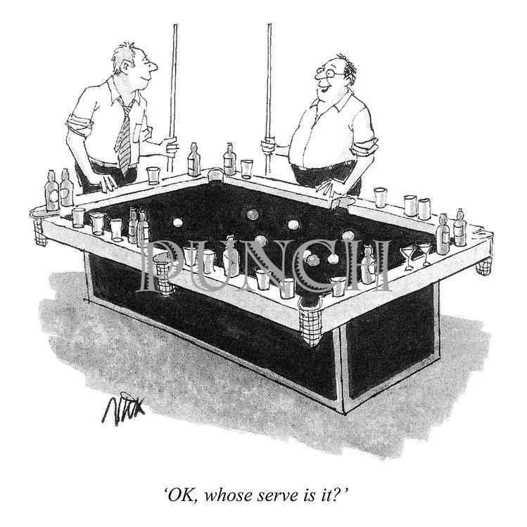'OK, whose serve is it?'
