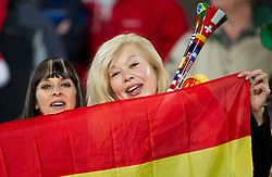 Fans of Spain enjoy atmosphere prior to the  2010 FIFA World Cup South Africa Quarter Finals football match between Paraguay and Spain on July 03, 2010 at Ellis Park Stadium in Johannesburg. (Photo by Vid Ponikvar / Sportida)