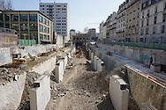France. Paris 14th district., petite  ceinture .  former railway line around Paris,