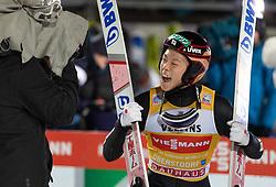 30.12.2018, Schattenbergschanze, Oberstdorf, GER, FIS Weltcup Skisprung, Vierschanzentournee, Oberstdorf, 2. Wertungsdurchgang, im Bild Jubel Ryoyu Kobayashi (JPN) // Ryoyu Kobayashi of Japan during his 2nd Competition Jump for the Four Hills Tournament of FIS Ski Jumping World Cup at the Schattenbergschanze in Oberstdorf, Germany on 2018/12/30. EXPA Pictures © 2018, PhotoCredit: EXPA/ Peter Rinderer